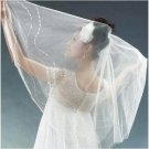 1T IVORY WHITE LACE MANTILLA WEDDING Bride VEIL #28
