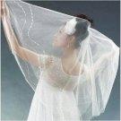 1T IVORY WHITE LACE MANTILLA WEDDING Bride VEIL #28