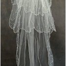 1T IVORY WHITE LACE MANTILLA WEDDING Bride VEIL #31