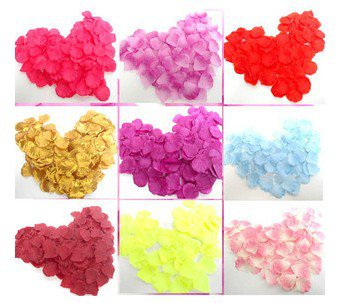 Free Shipping WHOLESALE 800PC Wedding Bridal Pink Flower Rose Basket Artificial Petals more color
