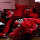 red rose floral bedding cotton bed linens 3D printed comforter set full queen quilt duvet covers
