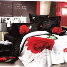 red rose floral lip printed bedding bed linens 3D comforter set queen quilt duvet covers