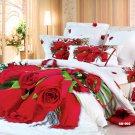 pink rose flower printed bed linens girls bedding comforter set queen quilt duvet covers