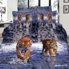luxury tiger animal printed bed linens cotton bedding comforter set queen quilt duvet covers
