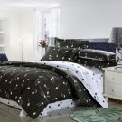 gray piano musical note pattern cotton bed linens bedding comforter set queen quilt duvet covers