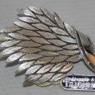 BROOCH (PIN): Trifari Vintage Women's Silver Multiple Leaves