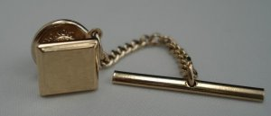 TIE PIN: Hickok Vintage Men's Gold Square