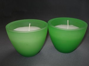 CANDLE HOLDER: Lime Green XL Votive Cups
