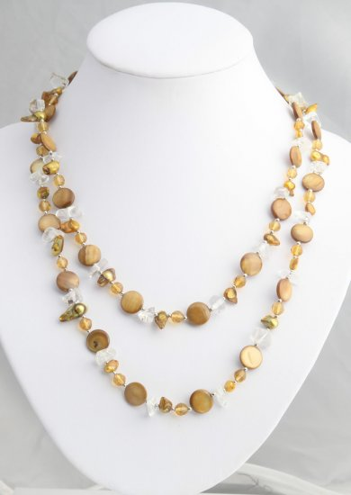 Long shell and Auburn pearl strand