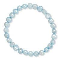 Blue Freshwater Pearl Stretch Bracelet