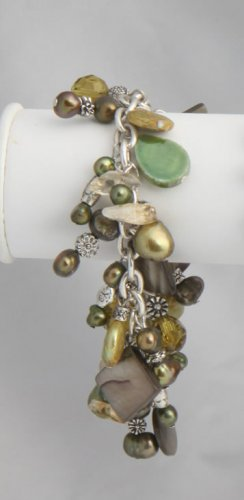 Green Pearl Roxanne Bracelet