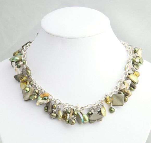 Green Pearl Roxanne Necklace