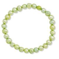Lime Freshwater Pearl Stretch Bracelet
