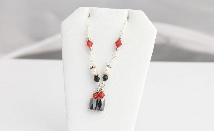 Red Magnetic earrings