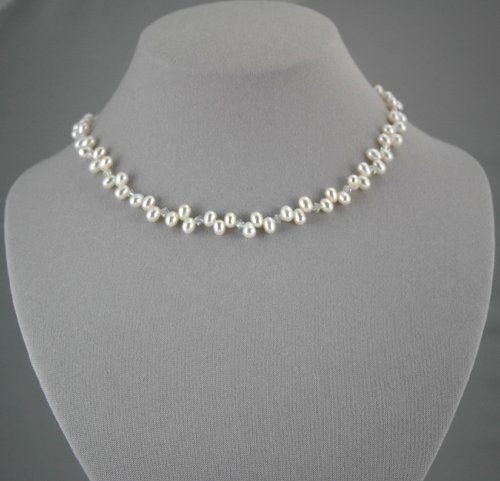 White Pearl Necklace        ep1022W