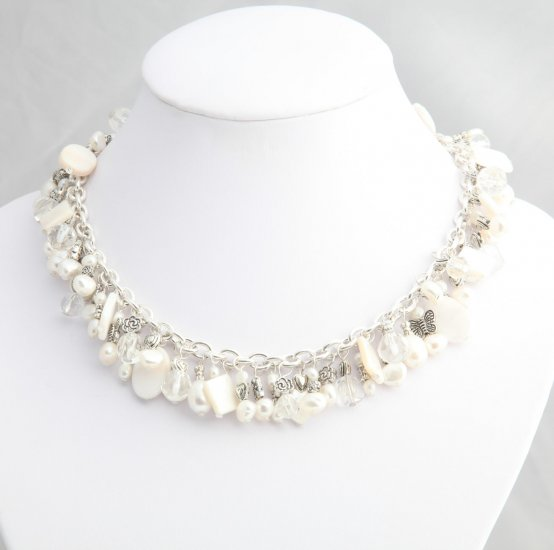 White Pearl Roxanne Necklace