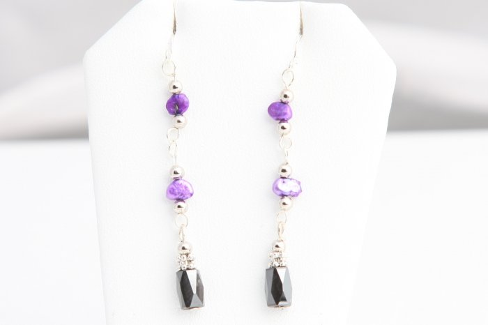 Purple Magnetic earrings