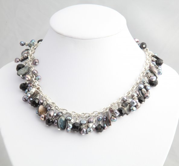 Black Pearl Roxanne Necklace