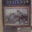 "Designs For The Needle ""Wolf Family"" Cross Stitch Kit"