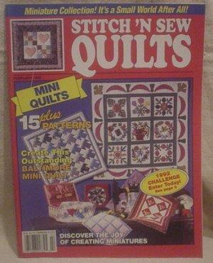 Stitch 'N Sew Quilts Magazine February 1992