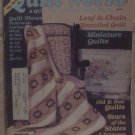 Quilt World Magazine August 1987