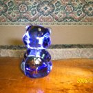 FENTON ART GLASS &quot;BEAR&quot; MISTY BLUE