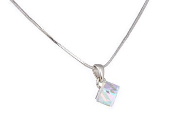 Crystal Swarovski Cube Necklace