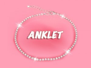 Clear Crystal Anklet