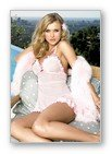 2 Pc. Power mesh Chemises with Ruffle Trim and Matching G-string Lingerie