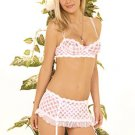 Skirted Garter, Bra & G-String Lingerie