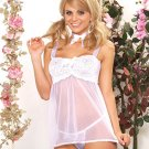 Baby Doll with Sheer Skirt - Queen Size Lingerie