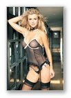 2PC. MESH POLK DOTS CAMI GARTER AND TIE SIDE G-STRING SET-LINGERIE