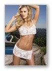 2PC. SPANISH LACE CROP TOP AND SKIRT WITH CROCHET TRIMS-LINGERIE