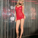 2Pc. Mini Daisy Chemise W/ Eye Lash Lace Trim and G-String-Lingerie