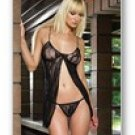 2 Pc. Romantic lace open front babydoll with matching G-String-Lingerie