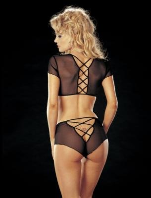 Sheer Stretch Mesh 2 pc. Set Lingerie