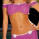 Striped Stretch Lace 3 pc. Set  Lingerie