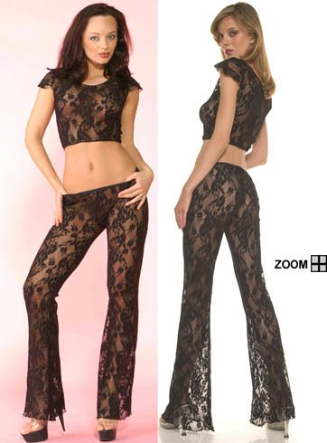 Lace Top with Pants Lingerie
