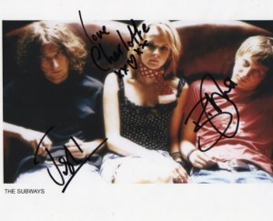 "The Subways FULLY SIGNED 8"" x 10"" Photo COA 100% Genuine"