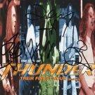 Thunder SIGNED Album COA 100% Genuine