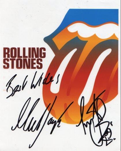 "Rolling Stones  Watts & Taylor SIGNED 8"" x 10"" Photo COA 100% Genuine"