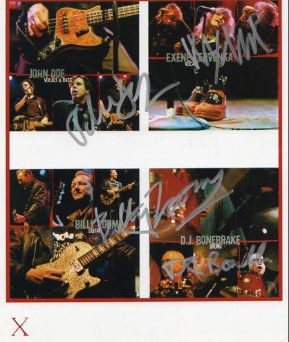 """~X~ Exene Cervenka John Dee X FULLY  SIGNED 8"""" x 10"""" Photo COA 100% Genuine"""
