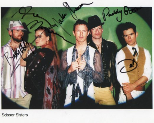 "The Scissor Sisters FULLY SIGNED 8"" x 10"" Photo COA 100% Genuine"