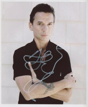 Dave Gahan SIGNED Photo 1st Generation PRINT Ltd 150 + Certificate (4)