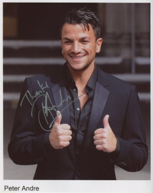Peter Andre SIGNED Photo 1st Generation PRINT Ltd 150 + Certificate (4)