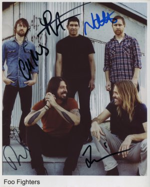 The Foo Fighters FULLY SIGNED Photo 1st Generation PRINT Ltd 150 + Certificate (4)
