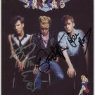 Stray Cats FULLY SIGNED Photo 1st Generation PRINT Ltd 150 + Certificate (1)