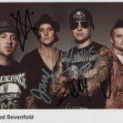 Avenged Sevenfold FULLY SIGNED Photo 1st Generation PRINT Ltd 150 + Certificate (2)