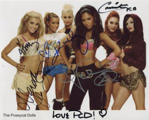 Pussycat Dolls FULLY SIGNED Photo + Certificate Of Authentication 100% Genuine