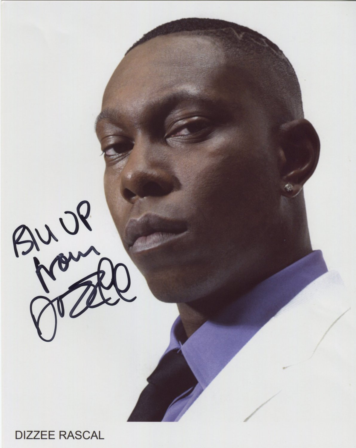 "Dizzee Rascal SIGNED 8"" x 10"" Photo + Certificate Of Authentication  100% Genuine"